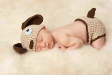 NWT Mud Pie Puppy Dog Crochet Hat & Bloomers Small Newborn Baby Boys