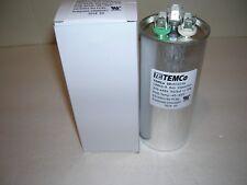 Run Capacitor - 55 + 5 MFD/UF - 370/440V- Dual - U.L. Listed - TEMco - New