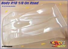 "Body Carrozzeria for 1/8 On Road R18 ""Clone Protoform"" 1mm Mugen XRAY NO PAINT"