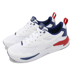 Puma X-Ray Lite Summer White Blue Red Men Unisex Casual Lifestyle Shoe 380658-02