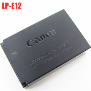 Original Genuine Canon LP-E12 Battery For EOS M M2 M10 M50 M100 100D LC-E12