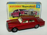 Matchbox Superfast No 24 Rolls Royce SS Light Red RW Casting VNMIB VERY RARE