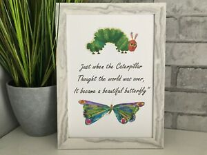 Hungry Caterpillar kids wall art print fashion art picture poster decor room A4