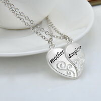"Women Silver Mother Daughter Family Love""Mom"" Necklace Pendant Mothers Day Gifts"