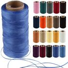 260m Leather Craft Sewing Waxed Thread 1MM For Upholstery Chisel Shoes Stitching
