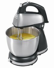 Hamilton Beach Classic Hand Stand Mixer 290w Cake Stainless Steel 6 Speeds SILVE