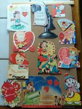 Lot Of Vintage Valentines And Scraps