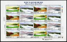Korea Süd 2009 Flüsse Rivers III Landschaften Landscape 2688-2691 Kleinbogen MNH