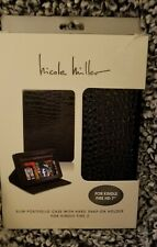 "Nicole Miller Black Slim Portfolio Case For Kindle Fire 2 HD 7"""