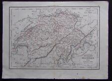 § carte République Helvétique - Félix Delamarche 1829