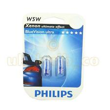 12V 5W PHILIPS SIDE LIGHT BULBS FOR VW Scirocco BLUE 501's FRONT (W5W T10)