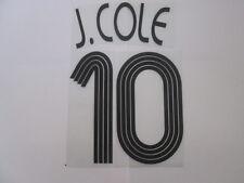 J Cole no 10 Chelsea Champions League Football Shirt Name Set Kids Youth