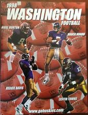 1998 WASHINGTON HUSKIES FOOTBALL MEDIA GUIDE