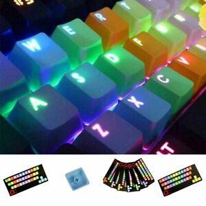 Rubber Backlit Gaming Keycap Set Doubleshot Keycaps 37 Keys Accessories Kit New