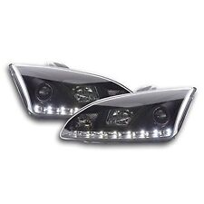 FORD focus mk2 (04-08) Noir drl devil angel eyes feux phares avant-Paire