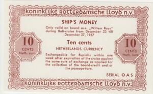 Niederlande 10 cents Schiffsgeld Netherlands East Indies Rotterdam Lloyd Willem