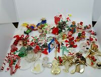 53 Vintage Christmas Ornaments Assorted Junk Drawer Handmade Ceramic Wood Glass