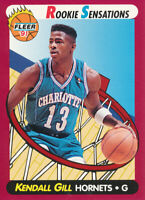 Kendall Gill 1991-92 Fleer Rookie Sensations #4 Charlotte Hornets Card