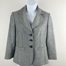 ANN TAYLOR Linen Blend BLAZER JACKET 3 BUTTON, TWO POCKETS, LINED size 2