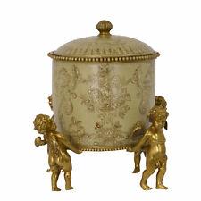 9973575-dss Dose Keramik/Bronze Historismus Putto Figur 23x18x18cm