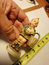 Pp-vintage Goebel hummel figurine -Village Boy 57 3/0 with stylized bee