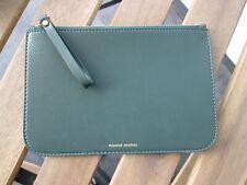 Mansur Gavriel Leather Clutch Bag Wallet Dark Green