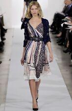 Runway Oscar de la Renta Multi Color Silk Dress