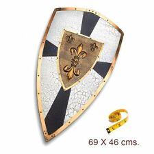 Réplica de acero decorado del escudo de ceremonia de Carlomagno. 69x46 cms.