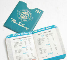 Weston Film Ratings Pocket Guide Booklet - English Used V481