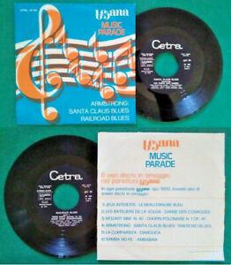 "7""45 Giri Louis Armstrong Santa Claus Blues/Railroad Blues Jazz Italy 1973 no lp"