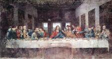 "The Last Supper by Leonardo Da Vinci, Oil Painting Art Reproduction, 46"" x 24"""