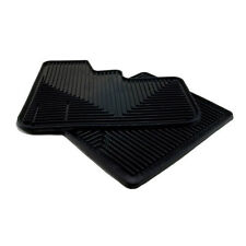 Peterbilt Truck 370 Models Plain Black High Ribbed Vinyl Rubber Floor Mats 2PC