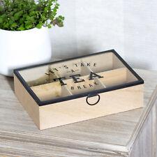 Permite tomar un descanso Caja de almacenamiento de té Caja Titular Cocina Pecho Caddy teabag