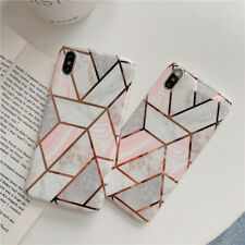 Pink Splice Marble Glossy Case For iPhone 12 11 Pro XS MAX XR X 7 8 Plus Cover
