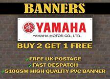 Grande 2 Mètre YAMAHA MOTO Bannière pour garage R1 R6 DRAGSTAR TZR DT Fazer
