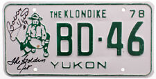 """Bobby Hull Signed Authentic Yukon License Plate Inscribed """"The Golden Jet"""""""
