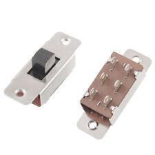 5 Pcs X 6 Solder Lug Pin 3 Position DPDT 2p2t PCB Panel Mount Mini Slide Switch