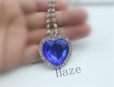 Beautiful Fashion Metal Silver Titanic Rose Heart Ocean Pendant Necklace FR*