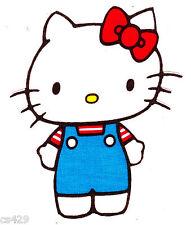 "4.5"" HELLO KITTY SANRIO  CHARACTER FABRIC APPLIQUE IRON ON"