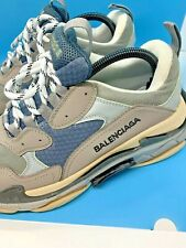 Balenciaga Triple S Grey Blue White Sneakers Runners Sz 43/ US10 Men's Trainers