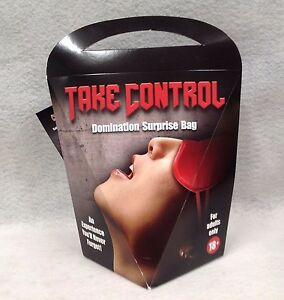 Take Control Domination Surprise Bag Adult Sexy Gift Sub Cuff Paddle G-Spot Vibe