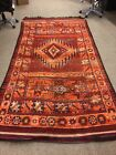 Antique HANDMADE RUG 5x10 WOOL ANTIQUE HAND-KNOTTED oriental geometric tribal