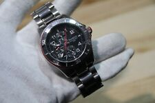 Armitron Watch 20/4810SV stainless steel red chronograph 165 ft water resistant