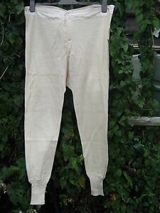 Swedish Army Long Johns Thermal Underwear Legging White Cream Military Surplus
