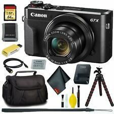 Canon PowerShot G7 X Mark II Digital Camera + 64GB Memory Bundle