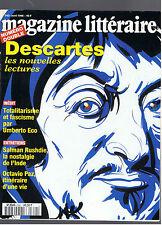 MAGAZINE LITTERAIRE N°342  1996  DESCARTES LES NOUVELLES LECTURES