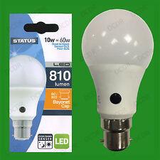 1x 10W = 60W LED GLS Dusk Till Dawn Sensor Security Night Light Bulb BC B22 Lamp