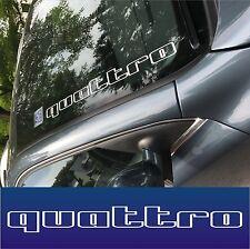 """Auto Fron- Heckscheben Aufkleber """"quattro"""" Sticker Tuning"""