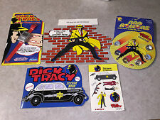 Dick Tracy Movie Collectibles: Wristwatch, Marbles, Sticker Book, Placard Figure