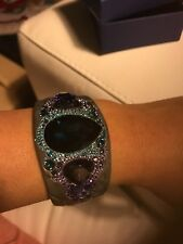 Swarovski Cuff. Authentic  crystal cuff bracelet purple blue. Beautiful